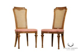 Drexel Vintage Pair French Regency Style Cane Back Side Chairs - $465.00