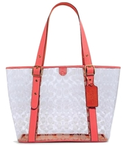 COACH SMALL FERRY TOTE IN SIGNATURE CLEAR CANVAS MSRP: $250.00 - $148.50