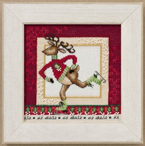 Primary image for Skating Reindeer: Raymond beaded holiday cross stitch kit Debbie Mumm Mill Hill