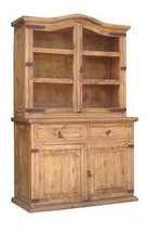 Rustic Small 2 PC China Cabinet Western Solid R... - $742.49