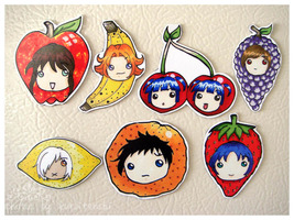 Magnet - Set of 7 Fruits - $3.00
