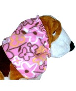 Pink Black Yellow White Flowers Fleece Dog Snood by Howlin Hounds Size S... - $11.50