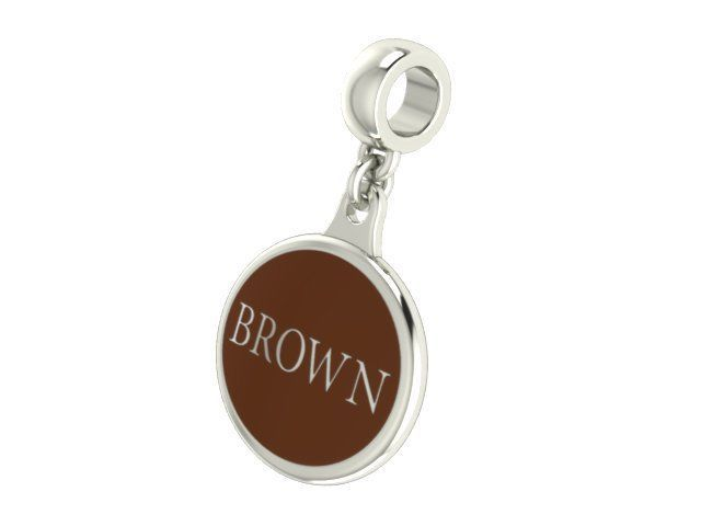 Brown University Bears Silver College Bead Fit Most Beaded Charm Style Bracelets