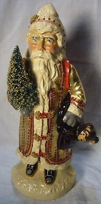 Vaillancourt Folk Art Gold European Father Christmas,personally signed by Judi!