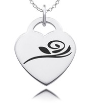 Alpha Gamma Delta Rose Sterling Silver Sorority Heart Charm Jewelry - $39.00
