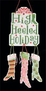 Primary image for High Heeled Holiday Collection: Stocking beaded cross stitch kit Debbie Mumm