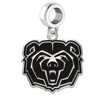 Missouri State Bears Silver Cut Out Charm Fits Bead Charm Style Bracelets - $39.00