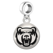 Central Arkansas Bears Silver Circle Dangle Fit All Bead Charm Bracelets - £27.96 GBP