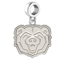 Missouri State Bears Natural Finish Silver Dangle Fit Bead Charm Bracelets - $34.50