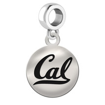 California Golden Bears Silver Circle Dangle Fit All Bead Charm Bracelets - $39.00