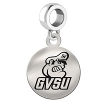 Grand Valley State Lakers Silver Circle Dangle Fit All Bead Charm Bracelets - $39.00