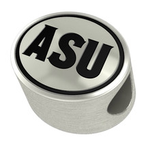 Arizona State Sun Devils Silver Bead Fits Most Beaded Charm Bracelets - $49.00