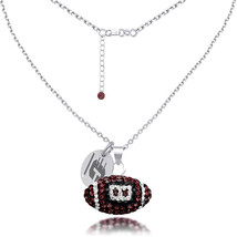 High Quality Central Michigan CMU Czech Crystal Football Necklace - €50,11 EUR