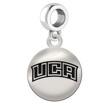 Central Arkansas Bears UCA Silver Circle Dangle Fit All Bead Charm Brace... - $39.00