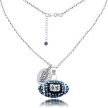 High Quality Connecticut Huskies Czech Crystal Football Necklace - €50,11 EUR