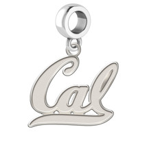 California Golden Bears Natural Finish Silver Dangle Fits Bead Charm Bra... - $34.50