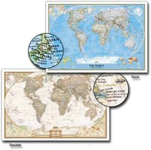 World National Geographic Wall Map - $29.99
