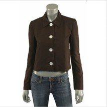 NWOT RALPH LAUREN Black Label 100% Cotton Brown Cropped Jacket Blazer  SZ 2 - $98.01