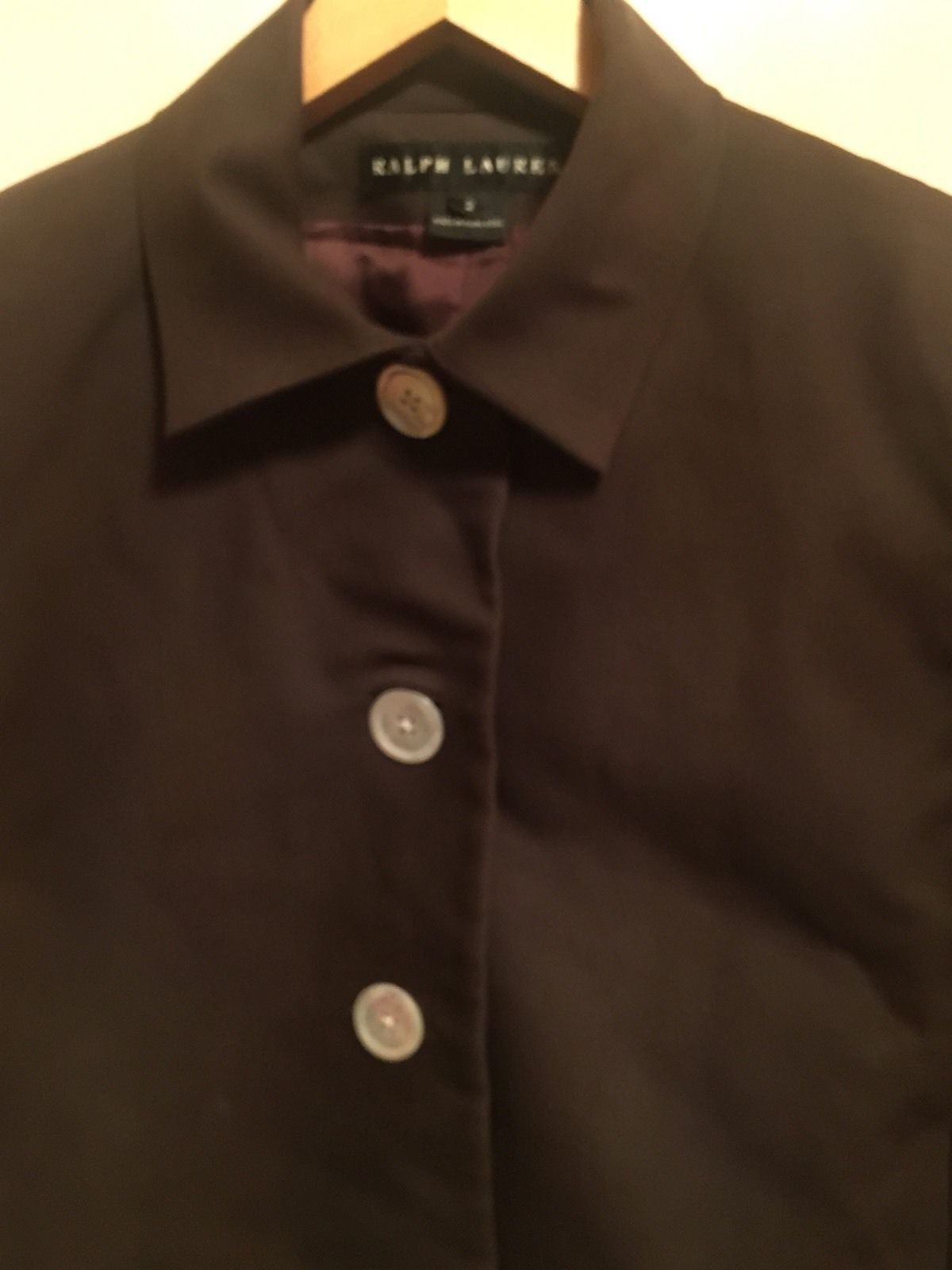 NWOT RALPH LAUREN Black Label 100% Cotton Brown Cropped Jacket Blazer  SZ 2