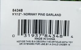 FORSHAW 84348 Norway Pine Garland Flame Retardant PVC Needles 9 ft by 12 in Wide image 4