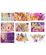 9 Winx Club Inspired Stickers, Decorations, Party Supplies, Favors,Labels - $8.99