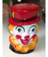 Clown Head Plastic Coin Bank - $9.00