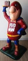 "Bud Man Advertising Fiberglass Statue 6' 4"" tall - $4,985.00"