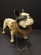 ALL ORIGINAL FRENCH BULLDOG WITH GROWLER PULL ALONG TOY 1950 - $2,495.00
