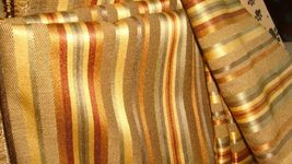 """""""Never Used"""" Striped Fabric, Sunburst Colors Approx.2.94yds (53""""w X 106""""L) - $50.00"""