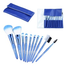 Ovonni 10-Piece Blue Travel Cosmetic Makeup Brush Set - ₨7,359.97 INR