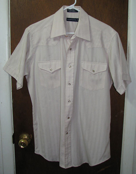 Mens Panhandle Slim SS Western Pearl Snap Shirt Size 16 or Large Tan