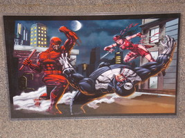 Marvel Daredevil & Electra Glossy Print 11 x 17 In Hard Plastic Sleeve - $24.99