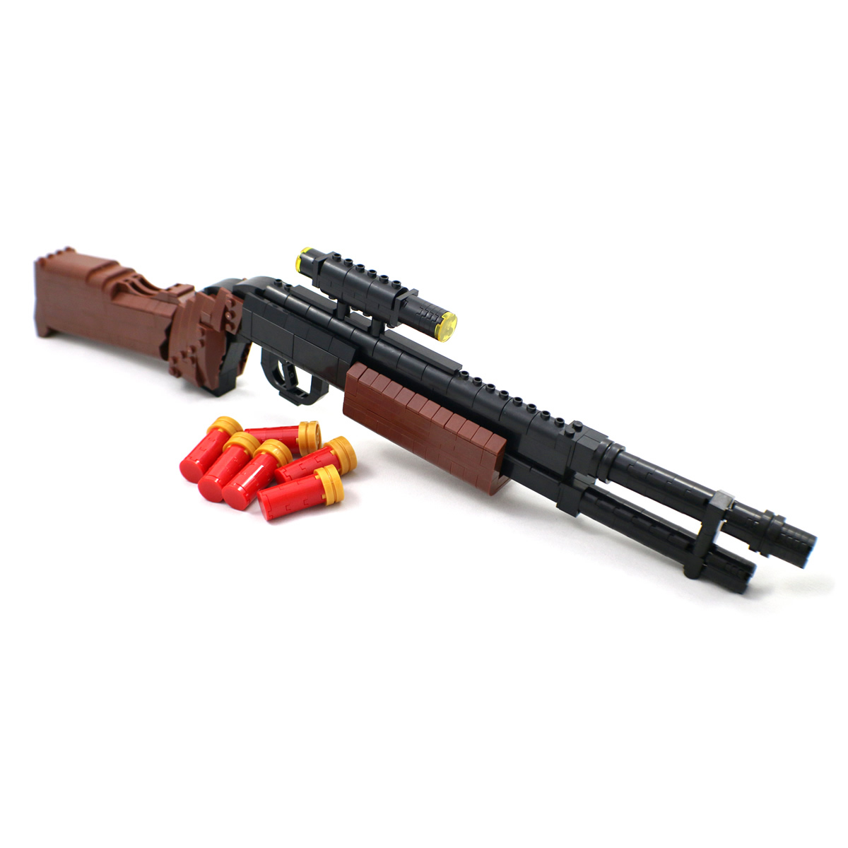 Model Shotgun Building Block Gun Compatible With Lego
