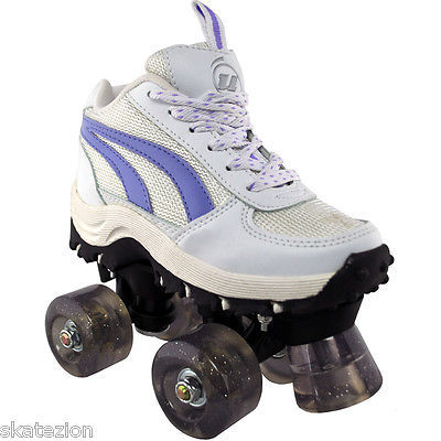 Ultra Wheels Flash 4x4 Girls Quad Roller Skates Youth Size 3