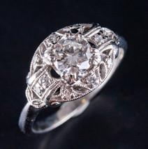 Vintage 1930's Platinum Transitional Euro Diamond Engagement Ring .88ctw - $4,680.00