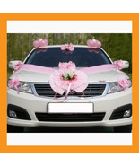 wedding car decoration ribbon flower gift party just married sign suctio... - $30.00