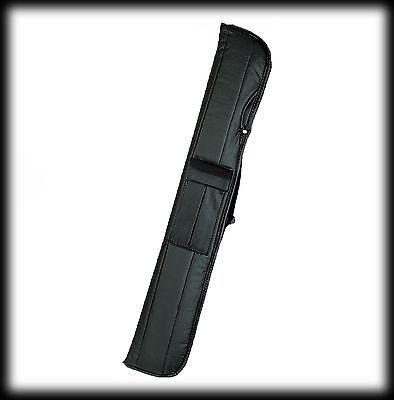 New Athena ATH32 Pool Cue Stick - Black stain w/Orchid Vine 17-21 oz & Case