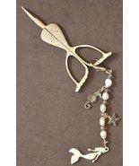 Mermaid's Treasure Scissor Fob scissor accessory cross stitch Embellishi... - $9.00