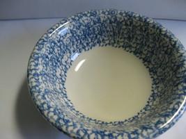 Henn Pottery Spongeware Medium Blue Serving Bow... - $39.99