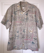 Vintage COOKE STREET Mens Hawaiian Shirt  Reverse Print • Cotton Size L ... - $18.66