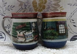 """Two Vintage """"General Store"""" & """"Vintage Room"""" Mugs // Otagiri Coffee Cups - $16.00"""