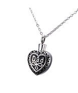 Dad in My Heart Jewelry Keepsake Cremation Memorial Urn Necklace Pendant - $23.99