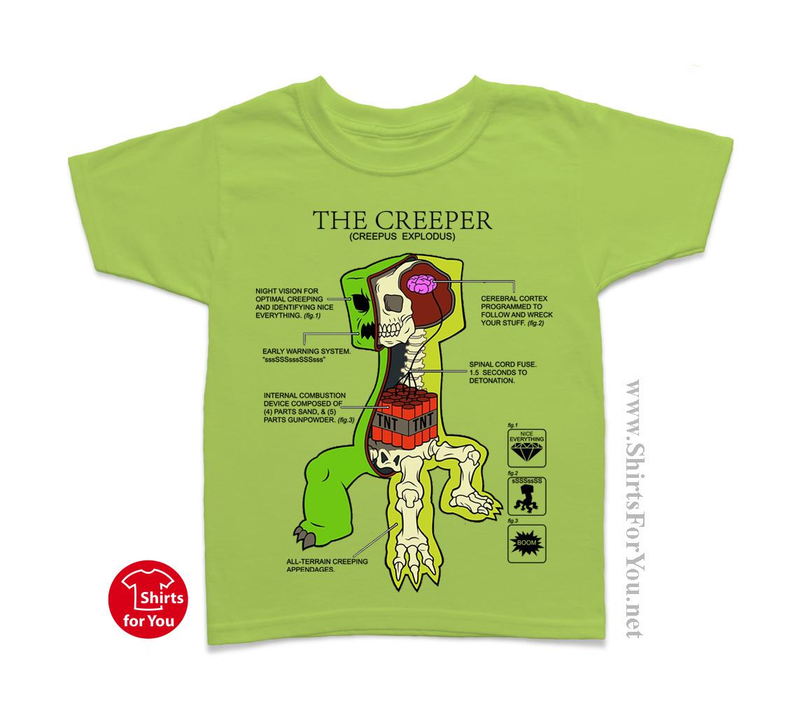Minecraft Creeper Anatomy Kids T Shirt and 46 similar items