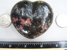 "Rhodonite Heart Crystal 2.61"" 7.45oz 211.11g La... - $28.95"
