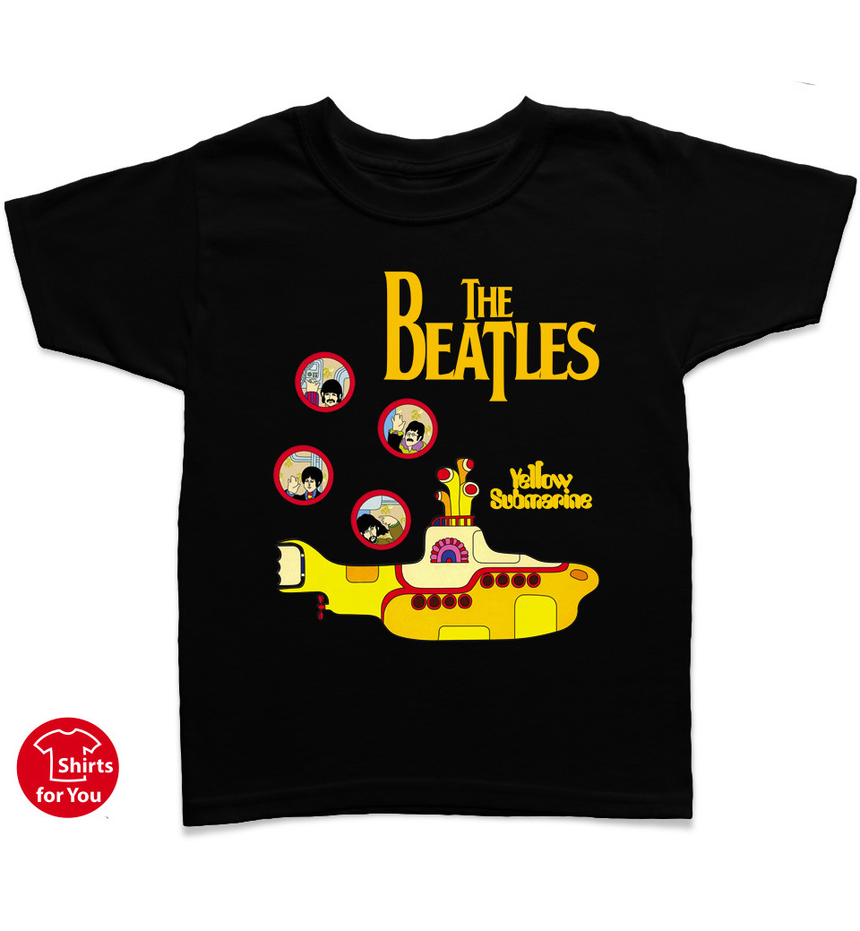 The beatles yellow submarine kids t shirt t shirts for Yellow t shirt for kids