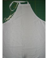PERSONALIZED WHITE Poly APRON BBQ Cook Chef Dad +Made in the USA Stain R... - $19.99