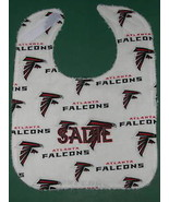 ATLANTA FALCONS PERSONALIZED BABY BIB BIBS Large Cotton + Terry Embroide... - $14.99