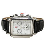 Michele Stainless Steel and Black Alligator Dec... - $595.00