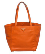 Prada Papaya Leather Shopping Tote Handbag - $595.00