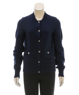 Chanel Navy Blue Knit Button Down CC Turn Lock ... - $1,795.00